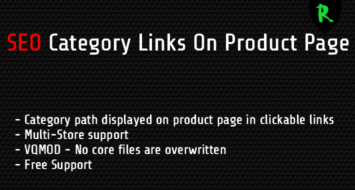 SEO Category Links On Product Page