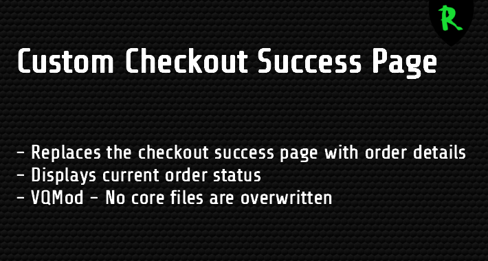 Custom Checkout Success Page