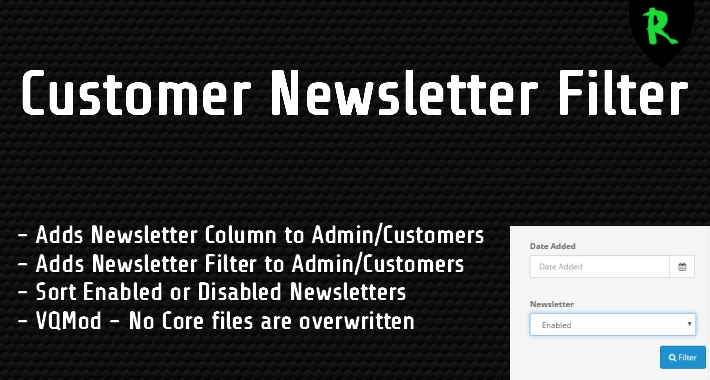 Customer Newsletter Filter