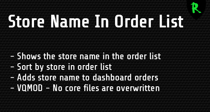 Store Name In Order List